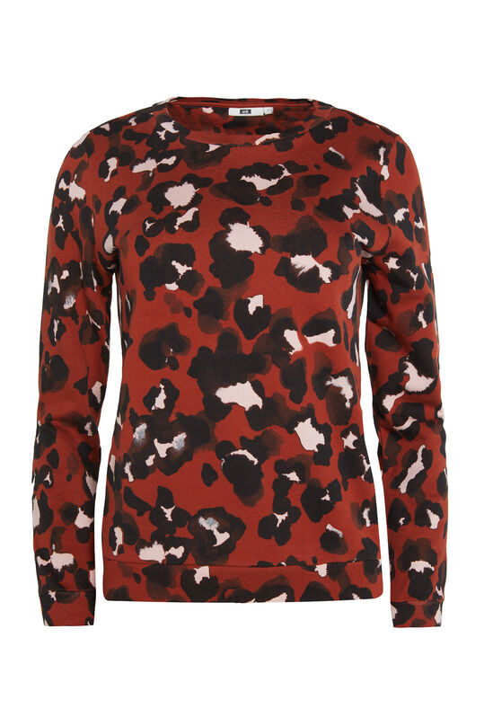 Dames sweater met panterdessin All-over print