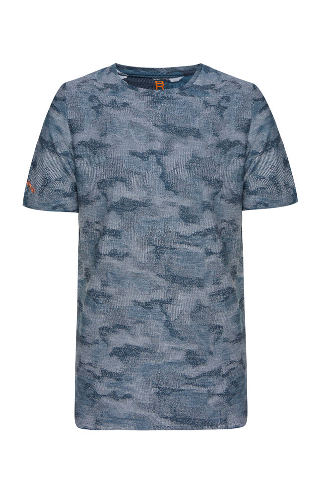 Heren jacquardgebreid T-shirt All-over print