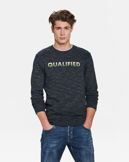 HEREN QUALIFIED DESSIN SWEATER Blauw