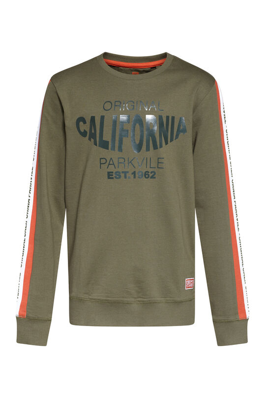 Jongens original california T-shirt Legergroen