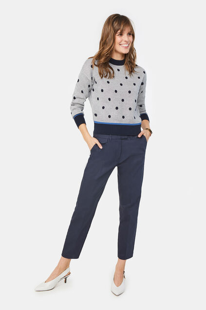 Dames slim fit chino Donkerblauw
