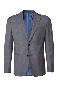 Heren slim fit blazer met pied-de-poule dessin Messina_Heren slim fit blazer met pied-de-poule dessin Messina, Grijs