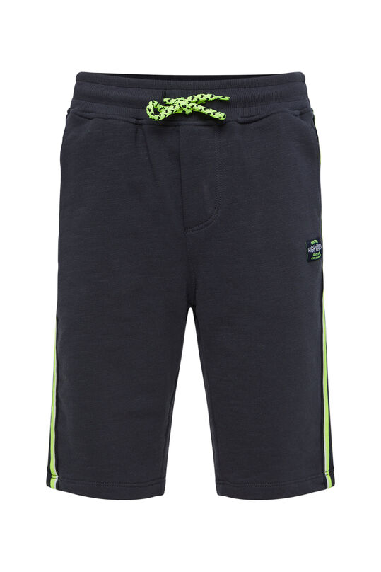 Jongens sweat short met tapedetail Donkergrijs