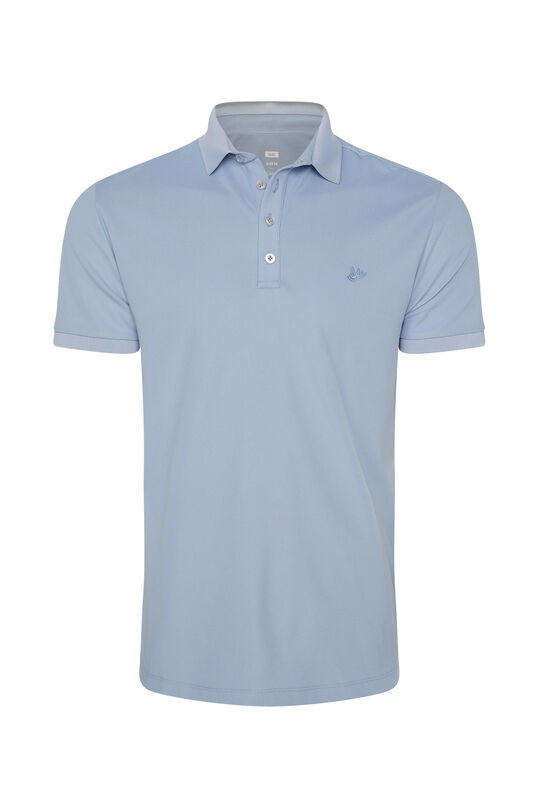 Heren Hybrids slim fit polo met coolmax® Lichtblauw