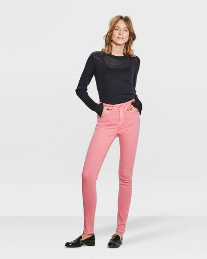 DAMES HIGH RISE SKINNY HIGH STRETCH BROEK Roze