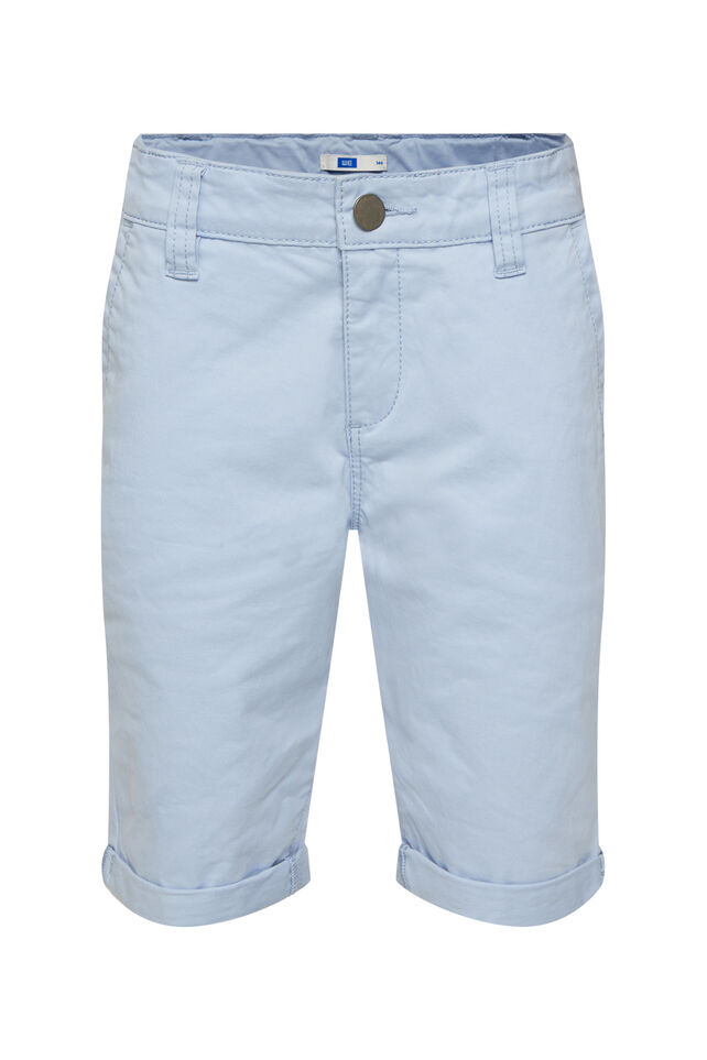 Jongens slim fit chino short Lichtblauw