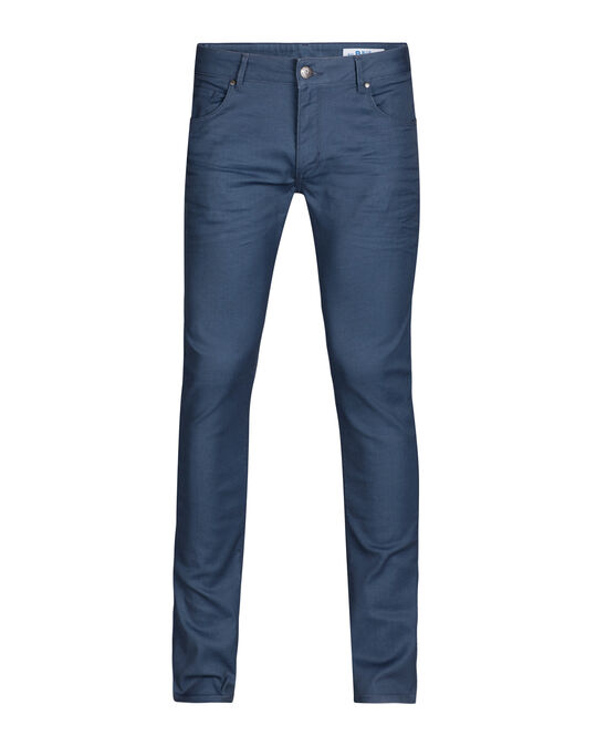 Heren slim fit jeans met comfort stretch Grijsblauw