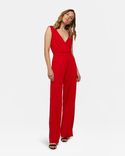 Dames wide leg jumpsuit Felrood