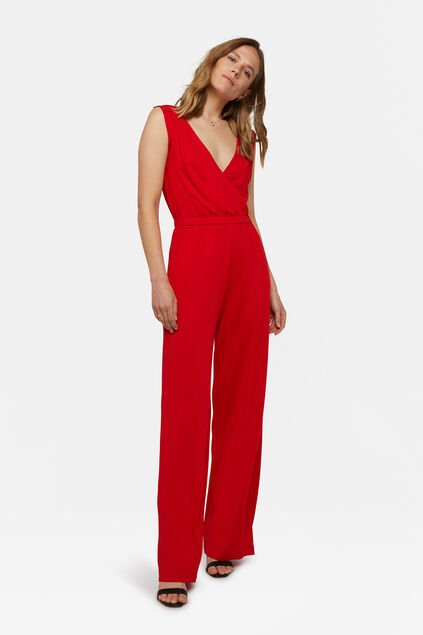 Dames palazzo jumpsuit Felrood