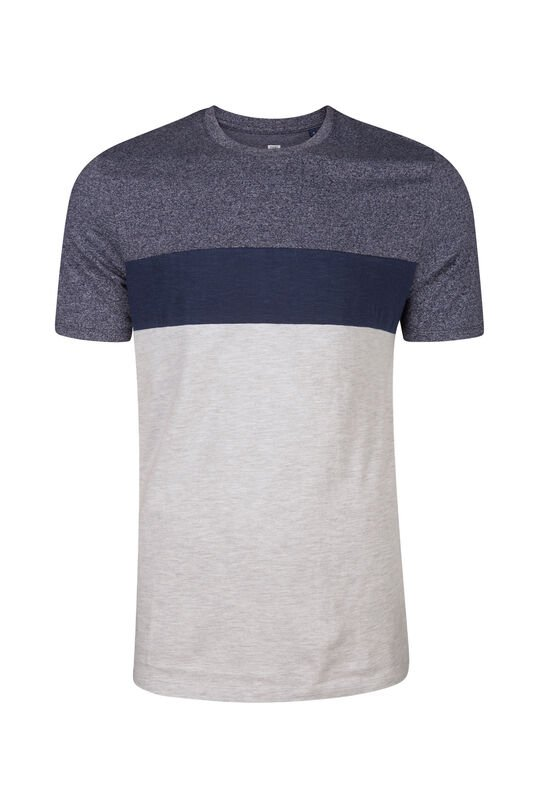 Heren colourblock T-shirt Blauw