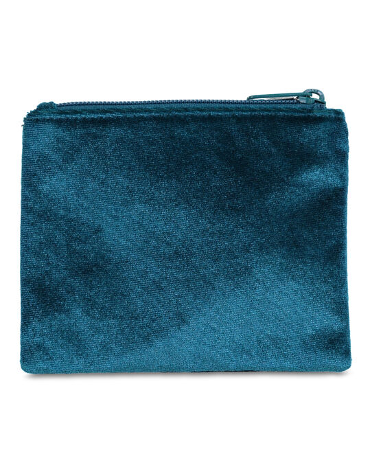 DAMES VELVET MAKE-UP TAS Turkoois