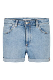 Dames denim short_Dames denim short, Lichtblauw