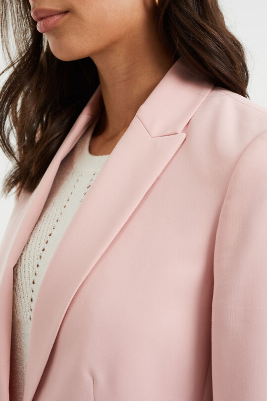 Dames regular fit blazer met stretch Oudroze