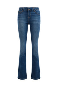 Dames mid rise flared jeans_Dames mid rise flared jeans, Blauw