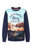 Jongens california sweater, Marineblauw