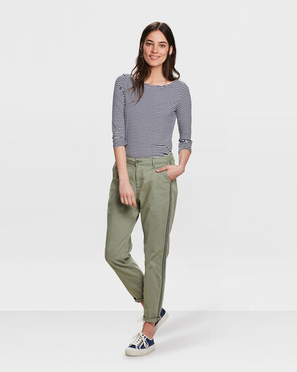 DAMES RELAXED FIT CHINO Olijfgroen