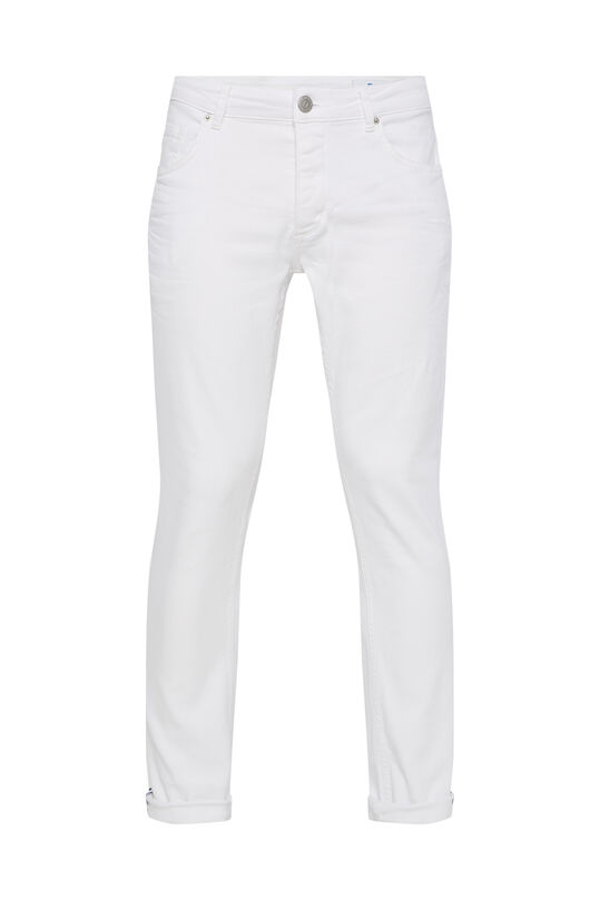 Heren slim fit jeans Wit