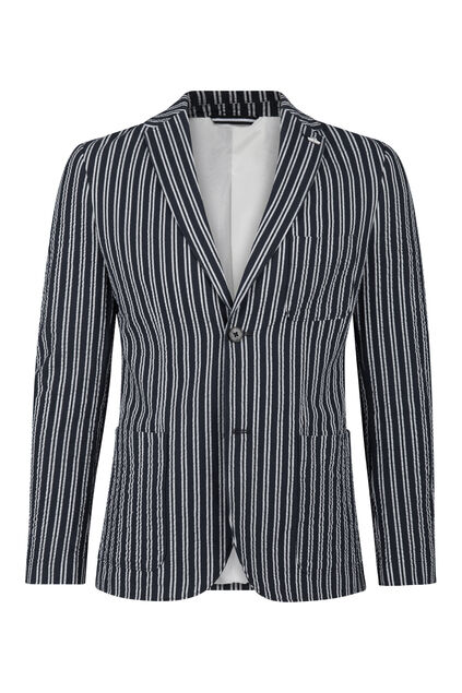 Heren slim fit blazer Stuart Blauw