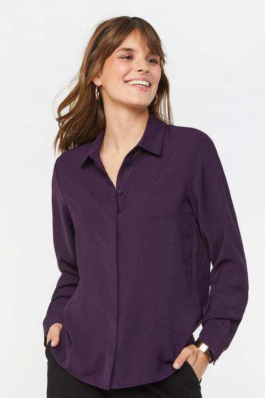Dames slim fit blouse Paars
