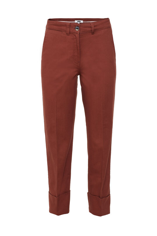 Dames broek met high waist Bordeauxrood
