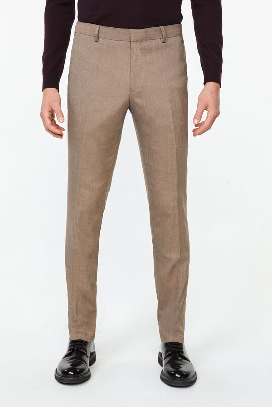 Heren slim tapered pantalon Bryan Sepia Grijs