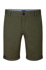 Heren regular fit chino short_Heren regular fit chino short, Legergroen