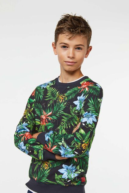 Jongens tropical sweater Multikleur