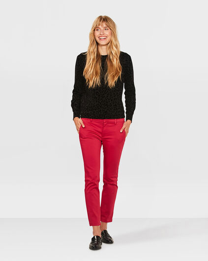 DAMES SLIM CROPPED CHINO Roze