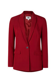Dames regular fit blazer_Dames regular fit blazer, Bordeauxrood