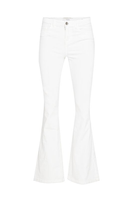 Dames mid rise flare high stretch jeans Gebroken wit