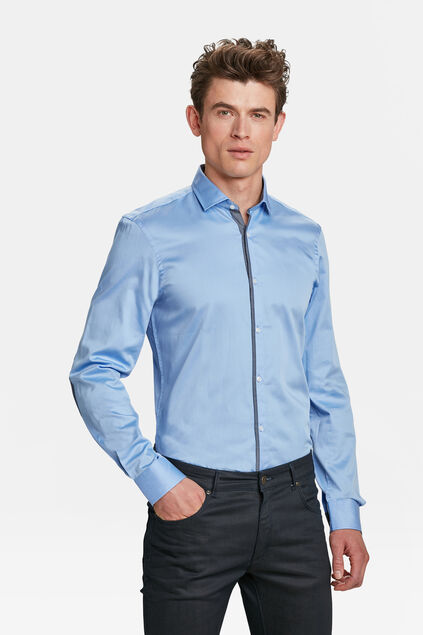 Heren slim fit overhemd Lavendel