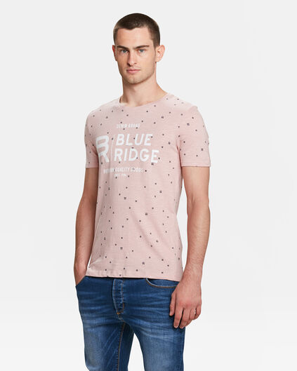 HEREN BLUE RIDGE PRINT T-SHIRT Roze