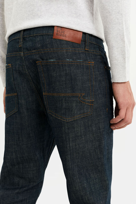 Heren slim fit jeans Marineblauw