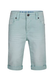 Jongens denim short_Jongens denim short, Turkoois