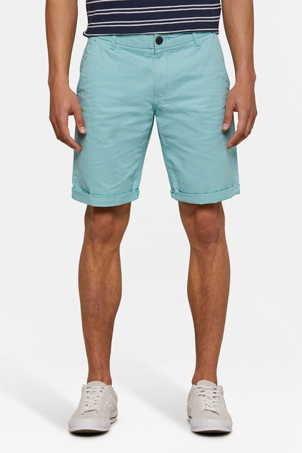Heren regular fit chino short IJsblauw