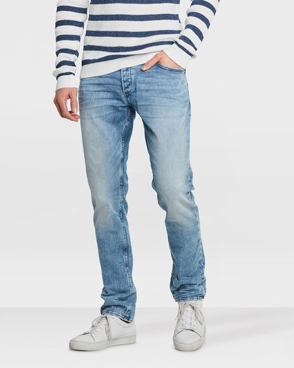 HEREN SLIM TAPERED JOG DENIM Lichtblauw