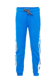 Jongens joggingbroek met tapedetail_Jongens joggingbroek met tapedetail, Felblauw