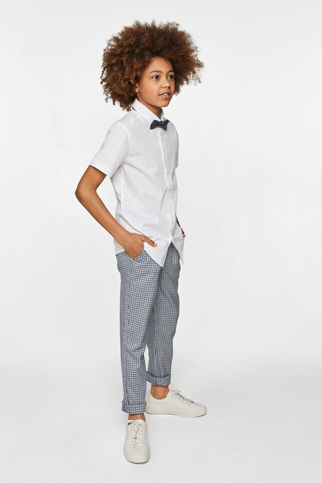 Jongens slim fit overhemd met dessin All-over print