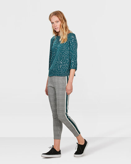DAMES CHECKED PANTALON Zwart