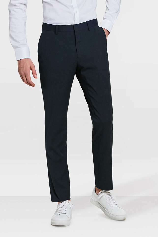 Heren slim fit pantalon, Dali Donkerblauw