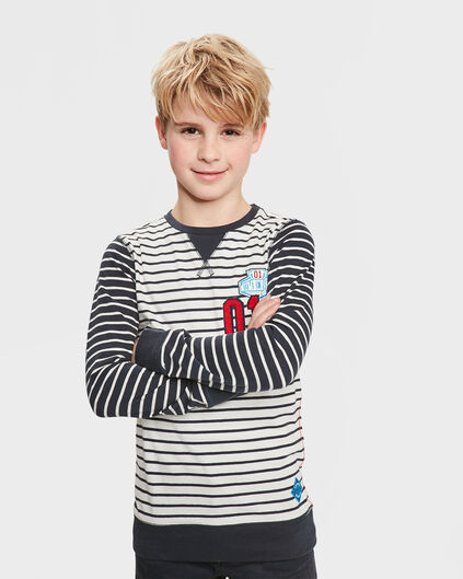 JONGENS STRIPE NUMBER ONE T-SHIRT Donkerblauw