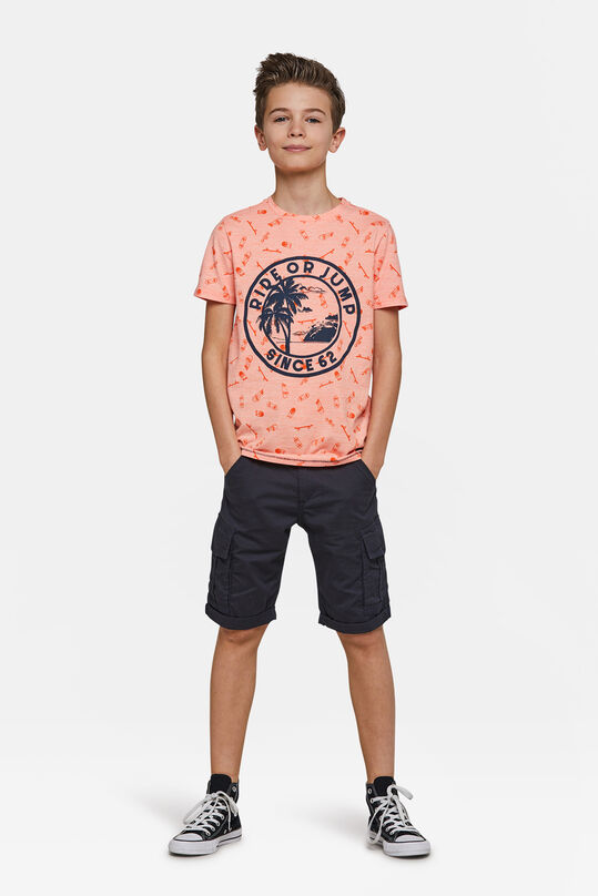 Jongens regular fit short Donkerblauw