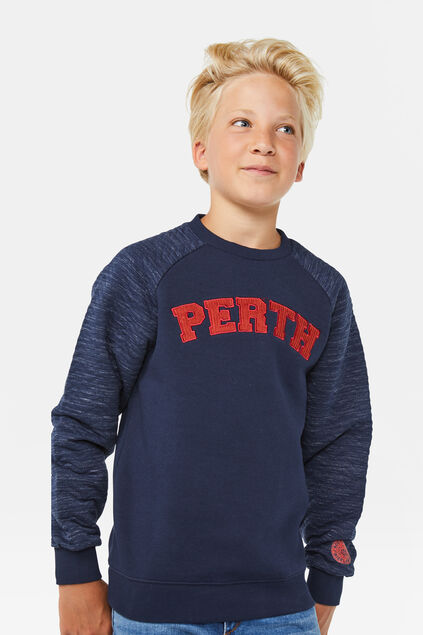 Jongens Perth sweater Marineblauw
