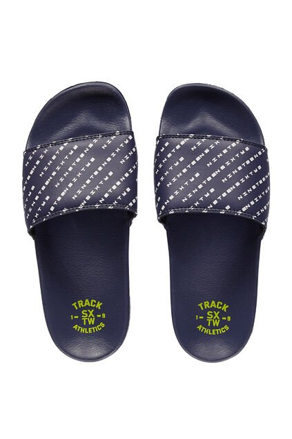 Jongens slipper met logodessin All-over print