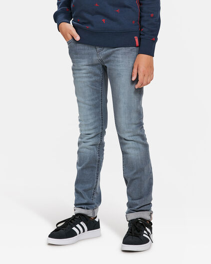 JONGENS SKINNY POWER STRETCH JEANS Grijsblauw