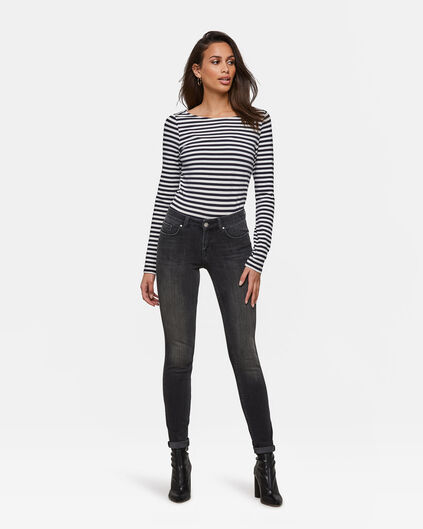 Dames super skinny shaping jeans Zwart