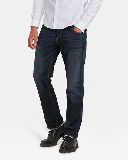 HEREN RELAXED TAPERED JOG DENIM Donkerblauw