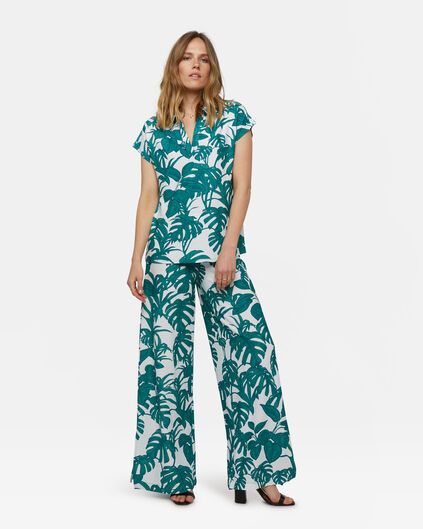 Dames wide leg broek Wit