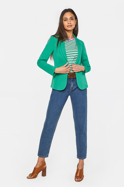 Dames regular fit blazer Mosgroen