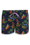 Girls Hawai short, Donkerblauw